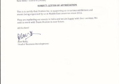 Appreciation Letter by IIR ME
