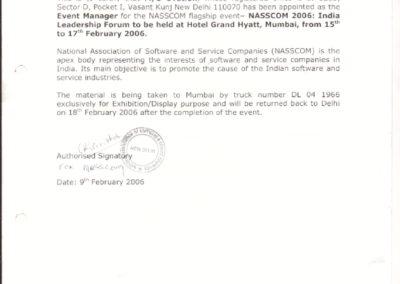 Letter by NASSCOM
